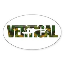 Vertical Camo Oval Decal