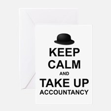 Keep Calm and Take up Accountancy Greeting Cards