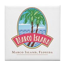 Retro Marco Island -  Tile Coaster