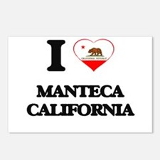I love Manteca California Postcards (Package of 8)