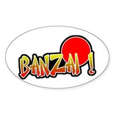 Banzai Oval Decal