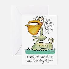 Choked Up Greeting Card