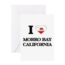 I love Morro Bay California Greeting Cards