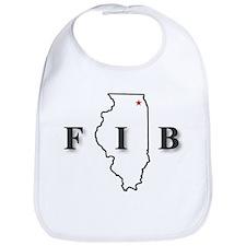 Funny Illinois Bib