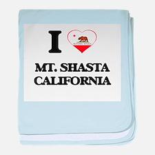 I love Mt. Shasta California baby blanket