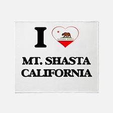I love Mt. Shasta California Throw Blanket