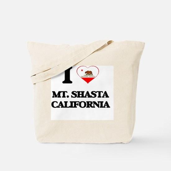 I love Mt. Shasta California Tote Bag