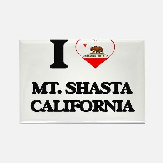 I love Mt. Shasta California Magnets
