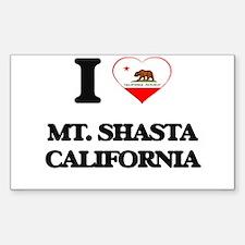 I love Mt. Shasta California Decal