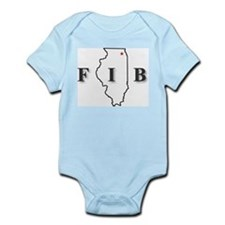 Cool Illinois Infant Bodysuit