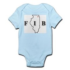 Cool Illinois Infant Bodysuit
