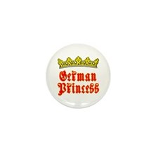 German Princess Mini Button (10 pack)
