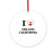 I love Orland California Ornament (Round)