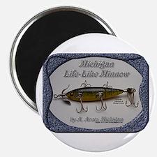 "Michigan Lifelike Minnow 2.25"" Magnet (10 pack)"