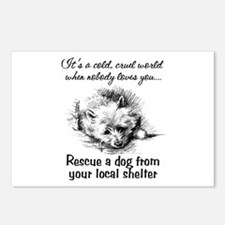 Rescue A Dog Postcards (Package of 8)