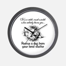 Rescue A Dog Wall Clock