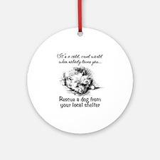 Rescue A Dog Ornament (Round)