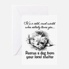 Rescue A Dog Greeting Card