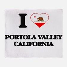 I love Portola Valley California Throw Blanket