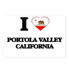 I love Portola Valley Cal Postcards (Package of 8)