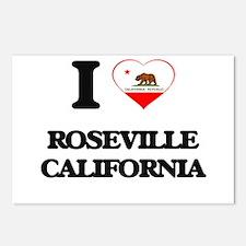 I love Roseville Californ Postcards (Package of 8)