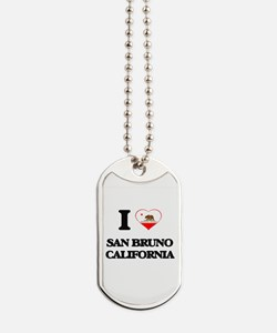 I love San Bruno California Dog Tags