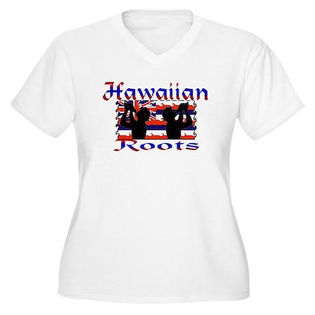 Hawaiian Roots Women's Plus Size V-Neck T-Shirt