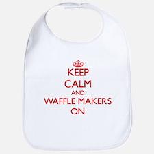 Keep Calm and Waffle Makers ON Bib