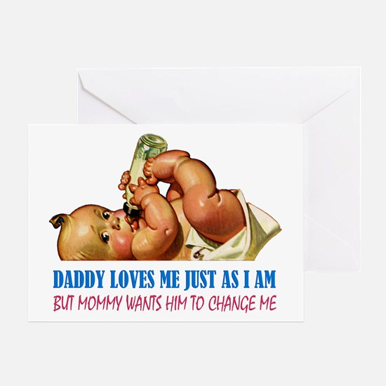 DADDY LOVES ME Greeting Card