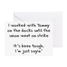 On the Docks Greeting Card