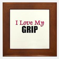 I Love My GRIP Framed Tile