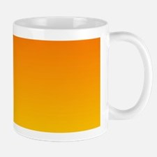 orange yellow ombre Mugs