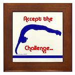 Gymnastics Framed Tile - Challenge