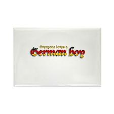 Everyone Loves a German Boy Rectangle Magnet