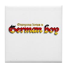 Everyone Loves a German Boy Tile Coaster