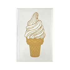 Soft Serve Ice Cream Cone Rectangle Magnet
