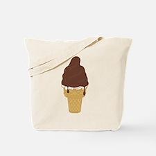 Chocolate Dip Ice Cream Cone Tote Bag