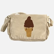 Chocolate Dip Ice Cream Cone Messenger Bag