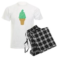 Green Mint Ice Cream Cone Pajamas
