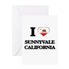 I love Sunnyvale California Greeting Cards