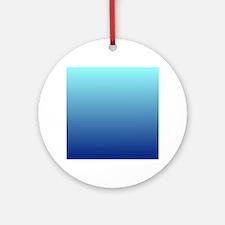 aqua blue ombre Ornament (Round)