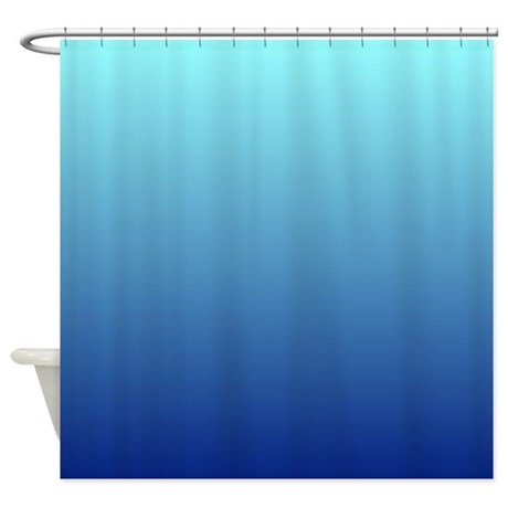 Aqua Blue Ombre Shower Curtain By ADMIN CP62325139
