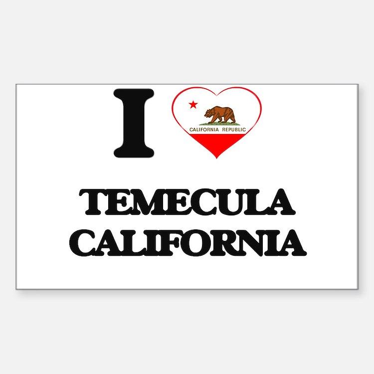 I love Temecula California Decal