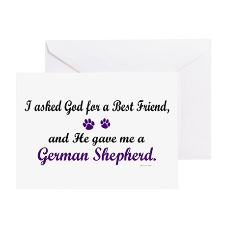 God Gave Me A German Shepherd Greeting Card