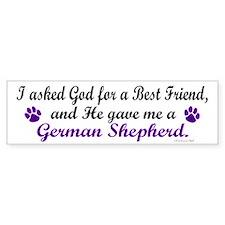 God Gave Me A German Shepherd Bumper Car Sticker
