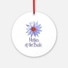 Lotus Bride's Grandma Ornament (Round)