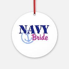 Navy Bride Ornament (Round)