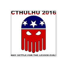 """Cute Cthulhu Square Sticker 3"""" x 3"""""""