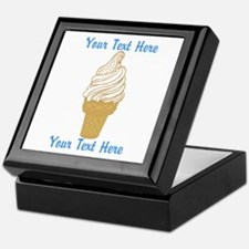 Personalized Ice Cream Cone Keepsake Box