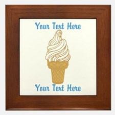 Personalized Ice Cream Cone Framed Tile